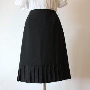 Laura Petites Black Skirt Size 12P
